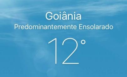 Primeiro dia do Inverno em Goiânia começa com frio de 12º