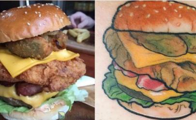 Cliente que tatuar hambúrguer ganhará sanduíche todos os dias para o resto da vida