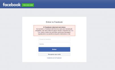 Facebook e Instagram apresentam instabilidade nesta tarde de quarta-feira