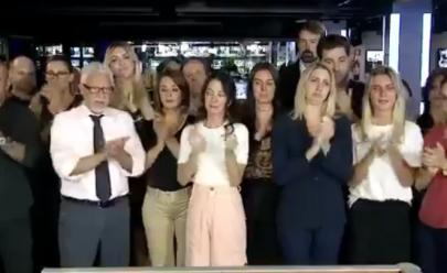 Vídeo: Jornal da Band termina com bancada vazia e aplausos a Boechat