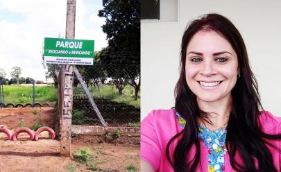 Enfermeira de Itumbiara mobiliza cidadãos e transforma lote baldio em parque sustentável