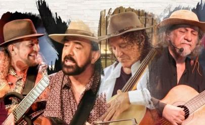 Geraldo Azevedo, Xangai, Elomar e Vital Farias em Goiânia com o show 'Cantoria'