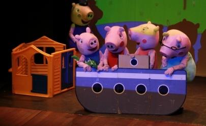 Espetáculo com personagens da Peppa Pig em tamanho real desembarca em Goiânia