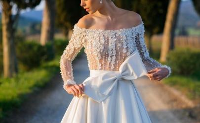 Bazar em Goiânia oferece vestidos de noiva, damas de honra, madrinhas e debutante com desconto de até 90%