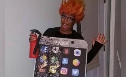 Após casos de explosão, Galaxy Note 7 vira piada de Dia das Bruxas; veja fotos