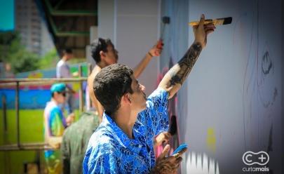 Goiânia se colore com mutirão de grafite em iniciativa de projeto cultural