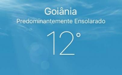 Segunda-feira começa com frio de 12º e chuva volta a cair em Goiânia esta semana