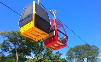 Primeiro teleférico de Goiânia começa a funcionar no Parque Mutirama