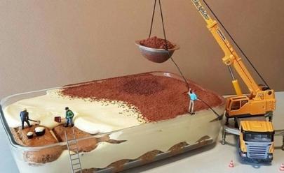 Chef italiano cria mundos em miniatura com sobremesas e o resultado é incrível