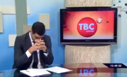 Apresentador do TBC Notícias 1ª edição se emociona ao anunciar nascimento do primeiro filho