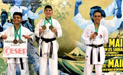 Goiano de 12 anos conquista medalhas de ouro em karatê e vai representar o Brasil em PanAmericano