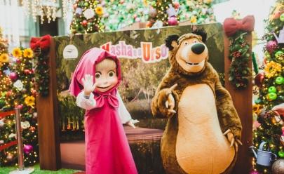 Shopping de Brasília recebe evento para crianças com a presença dos personagens Masha e o Urso