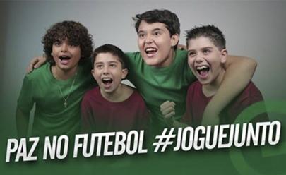 Goiás e Vila Nova promovem campanha pela Paz no Futebol