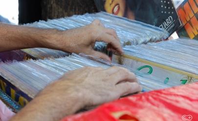 Encontramos uma feirinha de vinil no centro de Goiânia com entrada gratuita