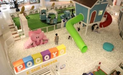 Shopping de Brasília recebe circuito com brincadeiras inspiradas em animação infantil