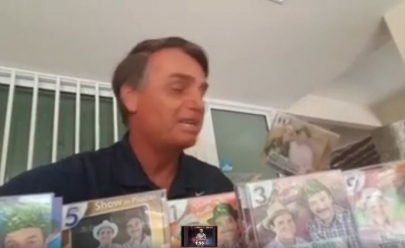 Jair Bolsonaro revela que é fã da dupla goiana Nilton Pinto & Tom Carvalho e vídeo viraliza na internet