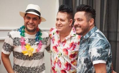 Marrone comemora aniversário ao lado de vários artistas em luxuosa festa havaiana em Goiânia