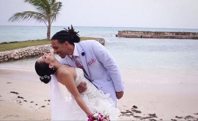 Casamento de goiana na Jamaica ganha vídeo emocionante; assista