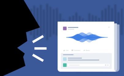 Veja como será possível fazer posts em áudio no Facebook