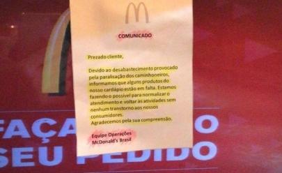 Greve dos caminhoneiros deixa McDonald's sem sanduíches