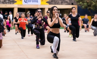 Academia de Brasília promove aulão de lutas e treino funcional em festival da cidade
