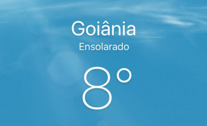 Goiânia tem o dia mais frio do ano com temperatura de 8º e sensação térmica de 6º