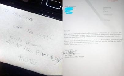 Criança envia carta para pai no céu e recebe resposta emocionante