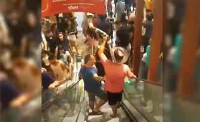 Vídeo flagra rapaz tocando berrante em Shopping de Goiânia