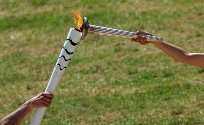 Chama Olímpica foi acesa na Grécia