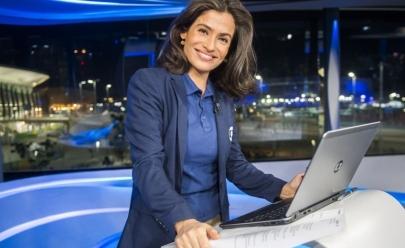Renata Vasconcellos usa roupa diferentona no Jornal Nacional e vira piada na Internet