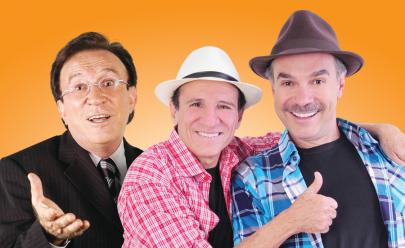 Moacyr Franco, Nilton Pinto e Tom Carvalho em Goiânia com show inédito de música e humor