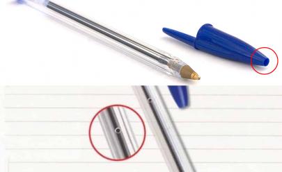 O motivo para a caneta Bic ter furos na lateral e na tampa vai te surpreender