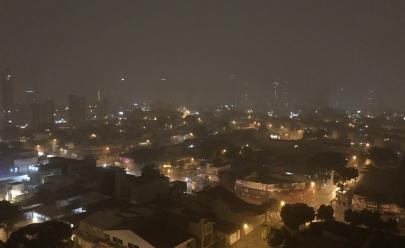 Chuva chega em Goiânia e dá uma trégua no tempo quente e seco