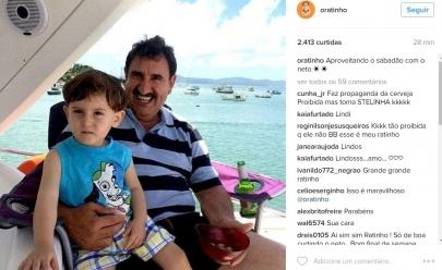 Ratinho posta foto com o neto mas um outro detalhe chama atenção de seguidores