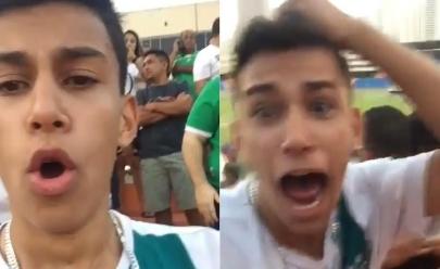 Torcedor do Goiás 'vidente' prevê gol de virada do Rafael Vaz no jogo contra o Inter e vibra: 'Vou aparecer no Fantástico'