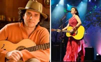Almir Sater e Paula Fernandes fazem show em Brasília