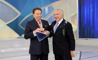 Silvio Santos recebe Michel Temer no SBT e entrevista vira meme na web