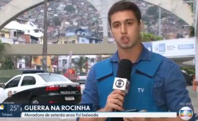 Detalhe em reportagem ao vivo da Globo chama a atenção dos internautas