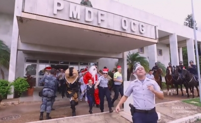 Vídeo da Polícia Militar do Distrito Federal comemorando fim do ano viraliza nas redes