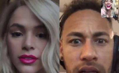 Confira a reação inusitada de Neymar ao ver Bruna Marquezine loira