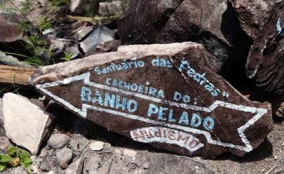 Cachoeira do Banho Pelado é o lugar de nudismo na Chapada dos Veadeiros