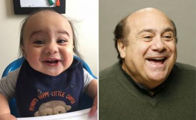 Bebê faz sucesso na web como sósia de Danny DeVito, de 72 anos