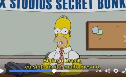 Em vídeo, Homer Simpson tira sarro do Brasil em pedido de desculpas por gafe ao vivo