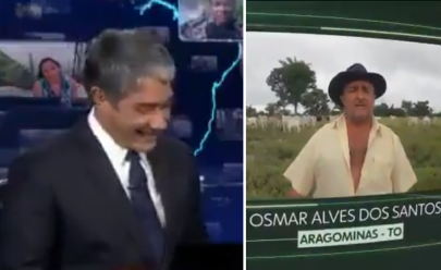 William Bonner não segura a risada após depoimento de espectador no Jornal Nacional e vídeo viraliza
