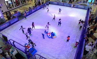 Circuito de diversão em Shopping de Uberlândia tem patinação no gelo e outras grandes atrações
