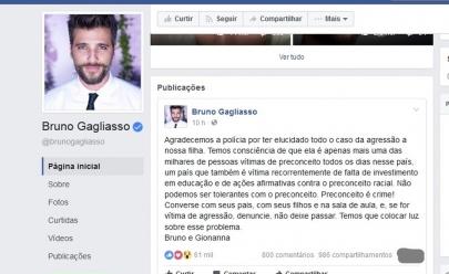 Bruno Gagliasso desabafa após polícia identificar suspeitos de ofender a filha Titi