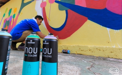 Artistas goianos vão grafitar muro de 75 metros de largura em evento aberto ao público em Goiânia