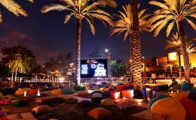 Cinema ao ar livre no Garden do shopping Flamboyant tem entrada gratuita