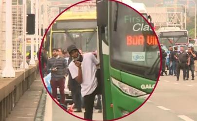 Agora: Sequestrador de ônibus é morto e reféns são liberados