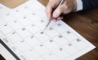 Calendário de 2019 nove feriados e sete pontos facultativos no Distrito Federal
